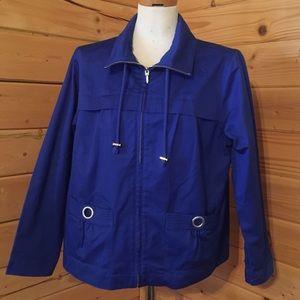 Christopher & Banks Blue Jacket XL Petite